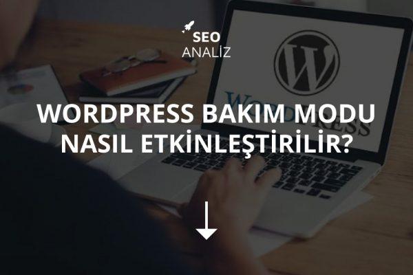 WordPress Bakım Modu Nasıl Etkinleştirilir?
